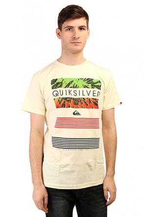 Футболка Quiksilver Classic Tee Linup Tees Transparent Yellow, 1139606,  Quiksilver, цвет желтый