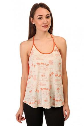 Топ женский Roxy Tbacktankb J Tees Sea Spray, 1142756,  Roxy, цвет белый, оранжевый