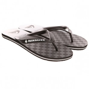 Вьетнамки Quiksilver Molokai Og Scal Sndl Black/Grey, 1142784,  Quiksilver, цвет серый, черный