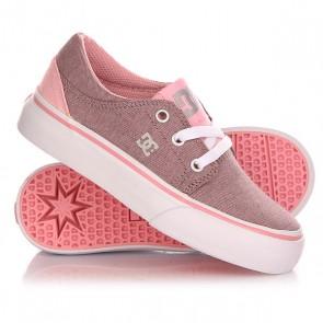 Кеды кроссовки низкие детские DC Trase Tod Tx Se G Shoe Pink/White, 1142877,  DC Shoes, цвет белый, черный