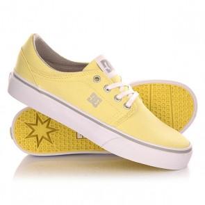 Кеды кроссовки низкие женские DC Trase Tx J Shoe Yellow, 1142880,  DC Shoes, цвет желтый