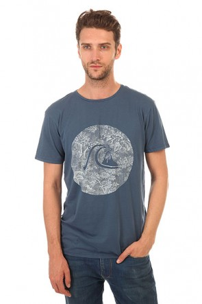 Футболка Quiksilver Gardyed Sunset Tees Dark Denim, 1140595,  Quiksilver, цвет синий