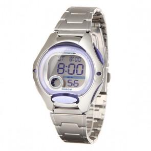 Электронные часы женские Casio Collection Lw-200d-6a Silver/Purple, 1140290,  Casio, цвет серый, фиолетовый