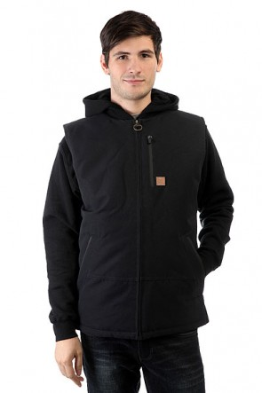 Жилет DC Draft Jckt Anthracite, 1130728,  DC Shoes, цвет черный