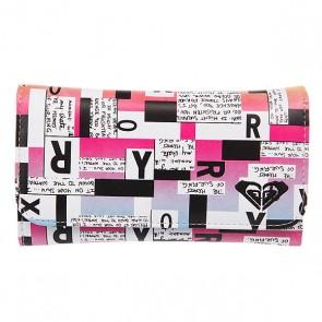 Кошелек женский Roxy My Long Eyes True Black 2, 1094799,  Roxy, цвет белый, розовый, черный