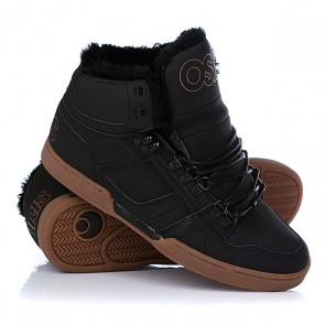 Кеды кроссовки утепленные Osiris Nyc 83 Shr Black/Black/Gum, 1048092,  Osiris, цвет черный