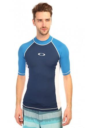 Гидрофутболка Oakley Pressure Rashguard Electric Blue, 1134719,  Oakley, цвет белый, синий