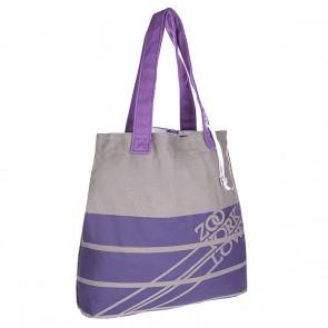 Сумка женская Zoo York Totetastic Purple Heart, 1122352,  Zoo York, цвет серый, фиолетовый