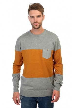 Джемпер Rip Curl Sliced Sweater Beton Marle, 1158549,  Rip Curl, цвет оранжевый, серый