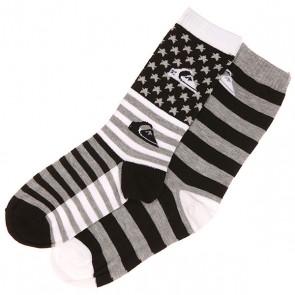 Носки средние детские Quiksilver All American 2 Pk. Black, 1139802,  Quiksilver, цвет белый, черный