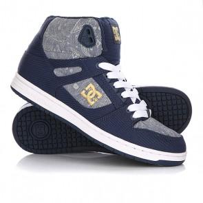 Кеды кроссовки высокие женские DC Rebound High Tx SE Insignia Blue, 1146054,  DC Shoes, цвет голубой, синий
