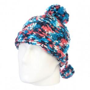 Шапка с помпоном детская Burton Girls Nana Earflap Millimint Colorblock, 1118204,  Burton, цвет белый, голубой, розовый, синий