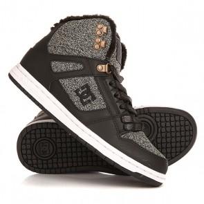 Кеды кроссовки утепленные женские DC Rebound High Black Dark Used, 1158594,  DC Shoes, цвет серый, черный