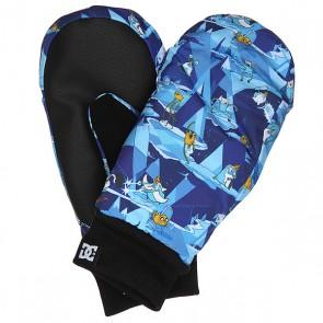 Варежки сноубордические детские DC Flag Mitt Adventure Time, 1158617,  DC Shoes, цвет голубой, мультиколор, синий