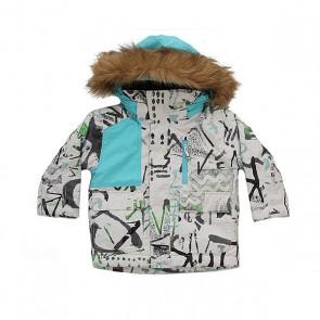 Куртка детская Quiksilver Flake Hieline White, 1158653,  Quiksilver, цвет белый, голубой