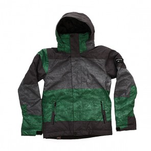 Куртка детская Quiksilver Mission Print Stripe Jolly Green, 1158658,  Quiksilver, цвет зеленый, серый