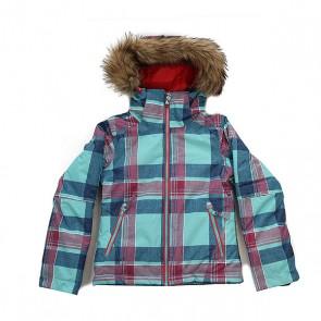 Куртка детская Roxy Jetty Ski Daya Plaid Blue Radi, 1158688,  Roxy, цвет голубой, розовый, синий