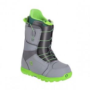 Ботинки для сноуборда Burton Moto Gray/Green, 1107601,  Burton, цвет серый