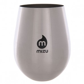 Стакан Mizu Wine Cup Set Stainless W Black Print, 1146091,  Mizu, цвет серый