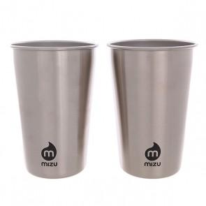 Стакан Mizu Party Cup Set Stainless W Black Print, 1146093,  Mizu, цвет серый