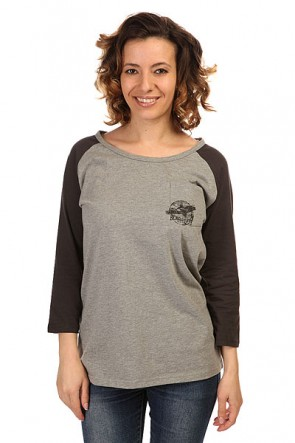 Лонгслив женский Billabong Rock n Beach Dark Athletic G, 1146168,  Billabong, цвет серый