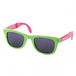 Очки True Spin Folding Sunglasses Green/Pink, 1064848,  TrueSpin, цвет зеленый, розовый