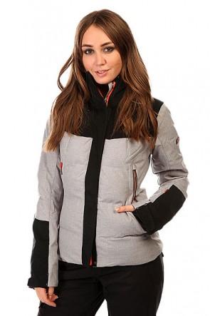 Куртка женская Roxy Flicker Jk Heritage Heather BIOTHERM, 1131793,  Roxy, цвет серый, черный