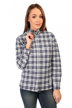Рубашка утепленная женская Penfield Kemsey Quilted Plaid Long Sleeve Shirt Navy, 1135236,  Penfield, цвет белый, синий