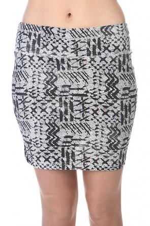 Юбка женская Billabong Smash Cool Wip, 1110675,  Billabong, цвет серый, черный