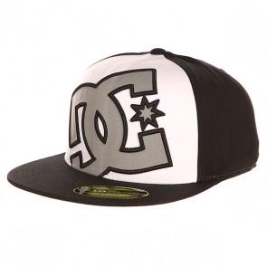 Бейсболка с прямым козырьком DC Ya Heard Black/Monument, 1143106,  DC Shoes, цвет белый, черный