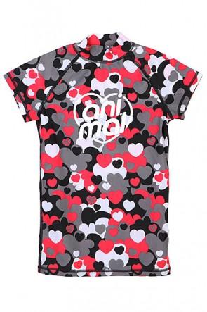 Гидрофутболка женская Animal Bowie Rash Vest Black/Grey, 1113021,  Animal, цвет красный, серый, черный
