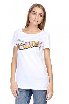 Футболка женская DC Greets Tee J White, 1113090,  DC Shoes, цвет белый