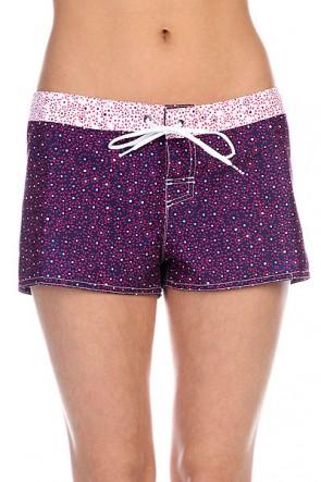 Шорты пляжные женские Roxy Twister 2 J Ditsy Daze Astral Au, 1115895,  Roxy, цвет белый, розовый, синий