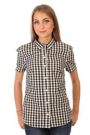 Рубашка в клетку женская Fred Perry Gingham Shirt Black/White, 1150413,  Fred Perry, цвет белый, черный