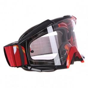 Маска для мотоспорта Oakley Proven Mx Red Victory Stripes Clear, 1122824,  Oakley, цвет красный, оранжевый, черный
