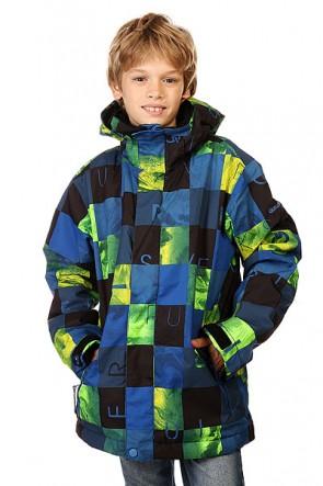 Куртка детская Quiksilver Mission Print Check Kasper Snow, 1128596,  Quiksilver, цвет зеленый, синий, черный