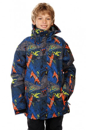 Куртка детская Quiksilver Mission Print Ghetto Hero, 1128612,  Quiksilver, цвет серый, синий