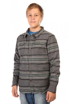 Рубашка утепленная детская Burton Cole Pine Pitkin Strp, 1128693,  Burton, цвет серый