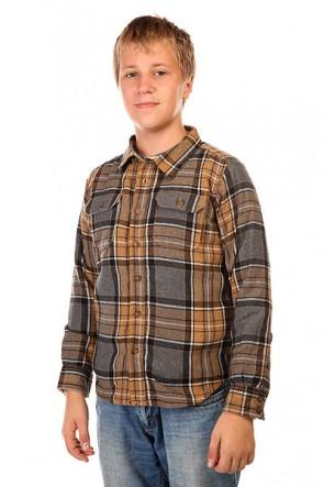 Рубашка утепленная детская Burton Cole Inca Pitkin Pld, 1128694,  Burton, цвет коричневый, серый