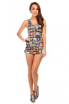 Комбинезон для фитнеса женский CajuBrasil Touch Dress Multi, 1135304,  CajuBrasil, цвет мультиколор