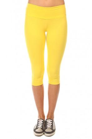 Леггинсы женские CajuBrasil Supplex Capri Yellow, 1135331,  CajuBrasil, цвет желтый