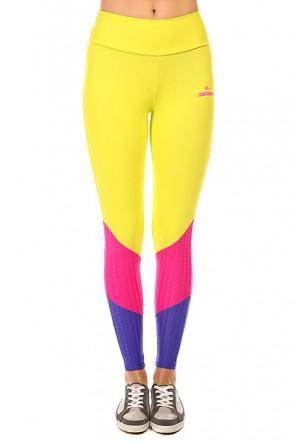 Леггинсы женские CajuBrasil New Zealand Legging Yellow/Blue/Pink, 1135338,  CajuBrasil, цвет желтый, розовый, синий
