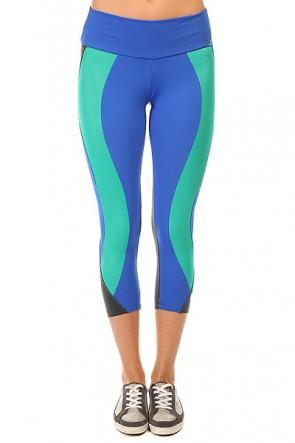 Леггинсы женские CajuBrasil Legging Supplex Blue/Grey/Green, 1135348,  CajuBrasil, цвет зеленый, серый, синий