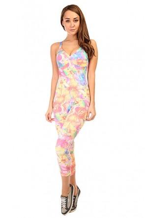 Комбинезон для фитнеса женский CajuBrasil Supplex Overall Multi/Pink/Beige, 1135375,  CajuBrasil, цвет мультиколор