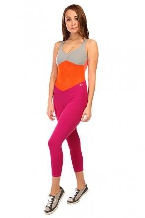 Комбинезон для фитнеса женский CajuBrasil New Zealand Overall Pink/Orange/Grey, 1135385,  CajuBrasil, цвет оранжевый, серый, фиолетовый