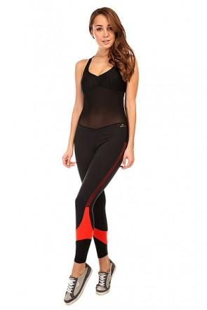 Комбинезон для фитнеса женский CajuBrasil New Zealand Overall Black/Red, 1135389,  CajuBrasil, цвет черный