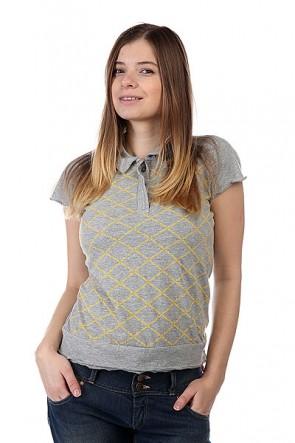 Поло женское Dickies Marla Grey Melange, 1107831,  Dickies, цвет серый