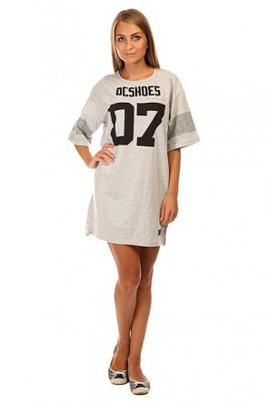 Платье женское DC Loose Dress J Ktdr Light Heather Grey, 1140031,  DC Shoes, цвет серый
