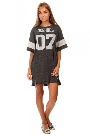 Платье женское DC Loose Dress J Ktdr Black Heather, 1140032,  DC Shoes, цвет серый