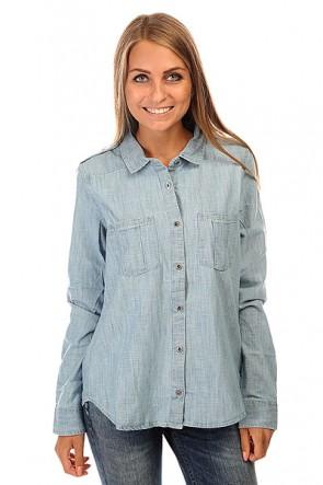 Рубашка женская Roxy Camera J Wvtp Light Blue, 1140037,  Roxy, цвет голубой